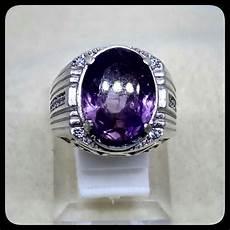 Batu Akik Kecubung Ungu Amethys jual cincin batu akik permata kecubung ungu