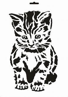 Malvorlage Gestreifte Katze A4 Textil Wand Schablone Katze W 044 De K 252 Che