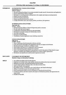 consulting intern resume sles velvet