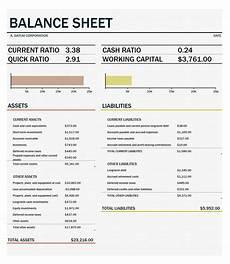 41 free balance sheet templates exles free template downloads