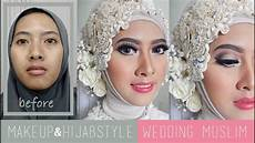 Tutorial Makeup Dan Hijabstyle Akad Nikah Wedding Muslim
