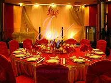 red and gold wedding decoration i