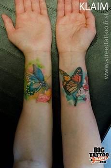 Schmetterling Handgelenk - watercolor style tattoos watercolour butterflies