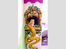 Repunzel on the side of the wardrobe   Disney mural