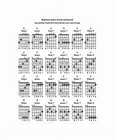 Beginners Guitar Chords Chart Template 5 Free Pdf