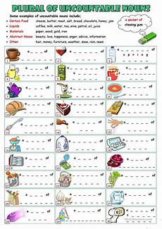 plurals of uncountable nouns worksheet free esl
