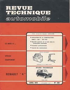 La Revue Technique De La 4l R 233 Seau Des Bde