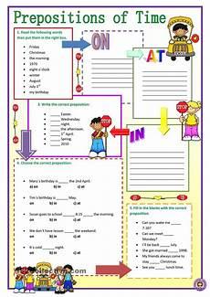 preposition of time worksheets for grade 3 3491 prepositions of time grammar prepositions and worksheets