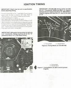 i have 1984 mercruiser 190 and unable to find the timing marks the timing cogs the manual i