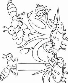 i for insect coloring page for free i for