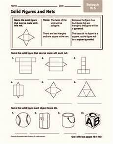 geometry nets worksheets 823 solid figures and nets worksheet for 4th 6th grade lesson planet