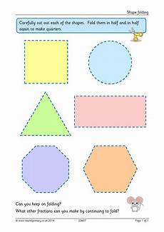shapes in half worksheets 1140 fractions of shapes search results teachit primary