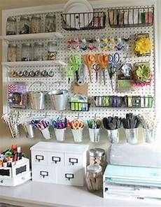 pegboard storage sewing room organization craft room