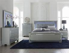 homelegance allura bedroom with led lighting silver b1916 1 at homelement com