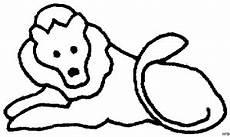 skizze loewe einfach ausmalbild malvorlage tiere