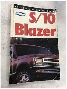 vehicle repair manual 1992 chevrolet s10 blazer regenerative braking 92 1992 chevy blazer owners manual ebay
