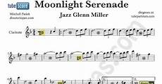 tubescore moonlight serenade sheet music for clarinet
