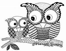Ausmalbilder Muster Eule Owl Print Owl Coloring Pages