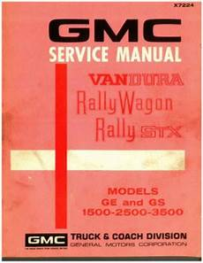 service and repair manuals 1994 gmc rally wagon 2500 parking system 1972 gmc service manual vandura rally wagon rally stx used