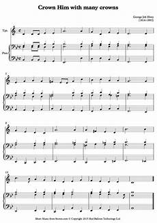 elvey crown him with many crowns sheet music for trumpet