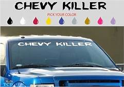 Chevy Killer Decal Funny Window 42 Dodge Charger