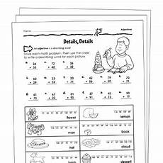 adjectives grade 2 collection printable leveled learning