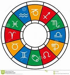 Sternzeichen Und Farben - astrology zodiac divisions stock vector illustration of