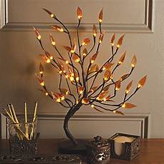22 inch brown wrapped leaf led lighted tree bed bath beyond