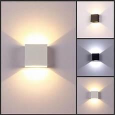 6w led wall ls aluminium wall light small square led