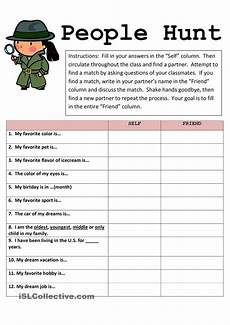 hunt free esl worksheets fun worksheets activities for classroom activities