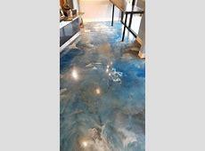 Lava Flow metallic epoxy flooring #MetallicEpoxy #