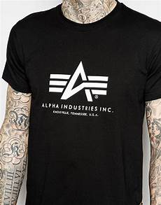 lyst alpha industries lpha industries t shirt with logo
