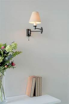 black hanson wall light with pull cord adjustable wall lights jim