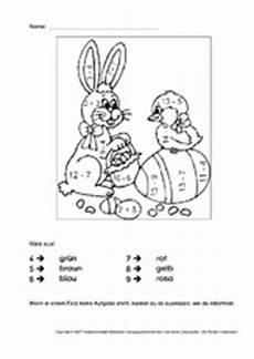 Ausmalbilder Ostern Rechnen Unterrichtsmaterial F 252 R Freiarbeit In Der Grundschule