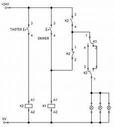 relais ansteuern mit dimmer schaltung