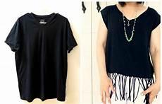 fransen shirt selber machen moderne diy tops