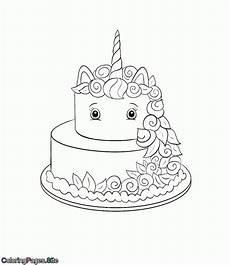 Malvorlagen Unicorn Cake Unicorn Cake Coloring Page