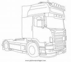 Ausmalbilder Lkw Daf Scania Gratis Malvorlage In Lastwagen Transportmittel