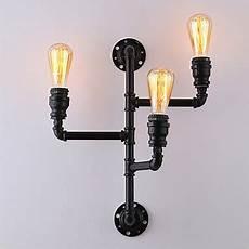 vintage industrial pipe wall lights black creative lights restaurant cafe bar decoration