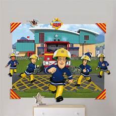 tapete feuerwehrmann sam fireman sam 3d wall mural 4ft x 5ft walltastic