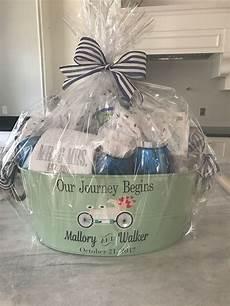 diy bridal shower gift basket our journey has just begun bridal shower gifts for