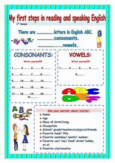 my first steps in reading and speaking worksheet free esl printable worksheets made by teachers