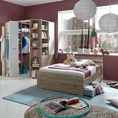 jugend mädchenzimmer mit begehbaren kleiderschrank jugendzimmer set joker bett 140x200 san remo eiche wei 223