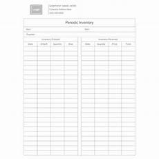 periodic inventory form