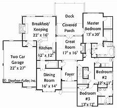 british colonial house plans simple one story colonial hwbdo14340 colonial house
