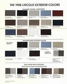 the lincoln mark vii club view topic lincoln exterior paint color codes and brochures
