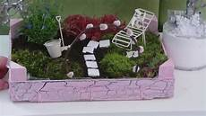Diy Garten F 252 R Den Tisch In Einer Kleinen Obstkiste