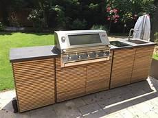 Outdoor Küche Holz - idee luxuri 246 se design outdoork 252 che aus holz und granit