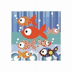tableau pour enfant tableau enfant les petits poissons