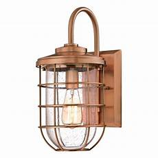 westinghouse ferry 1 light washed copper outdoor wall lantern 6347900 the home depot